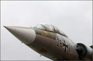 Spitz -    Lookheed F-104 G Starfighter 28+27 im Technikmuseum Speyer.