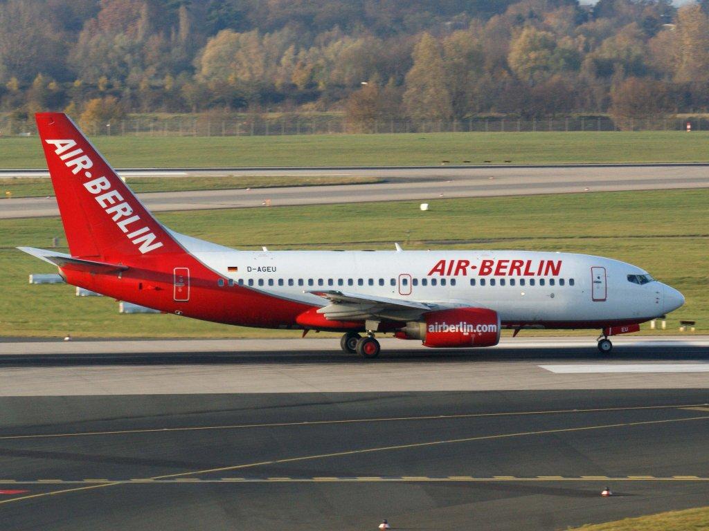 Air berlin germania d ageu boeing 737 700 13 11 2011 dus eddl d sseldorf germany