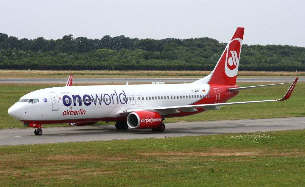 Air Berlin,D-ABMF,(c/n37767),Boeing 737-86J(WL),26.07.2013,HAM-EDDH,Hamburg,Germany(Bemalung:ONE WOLD)