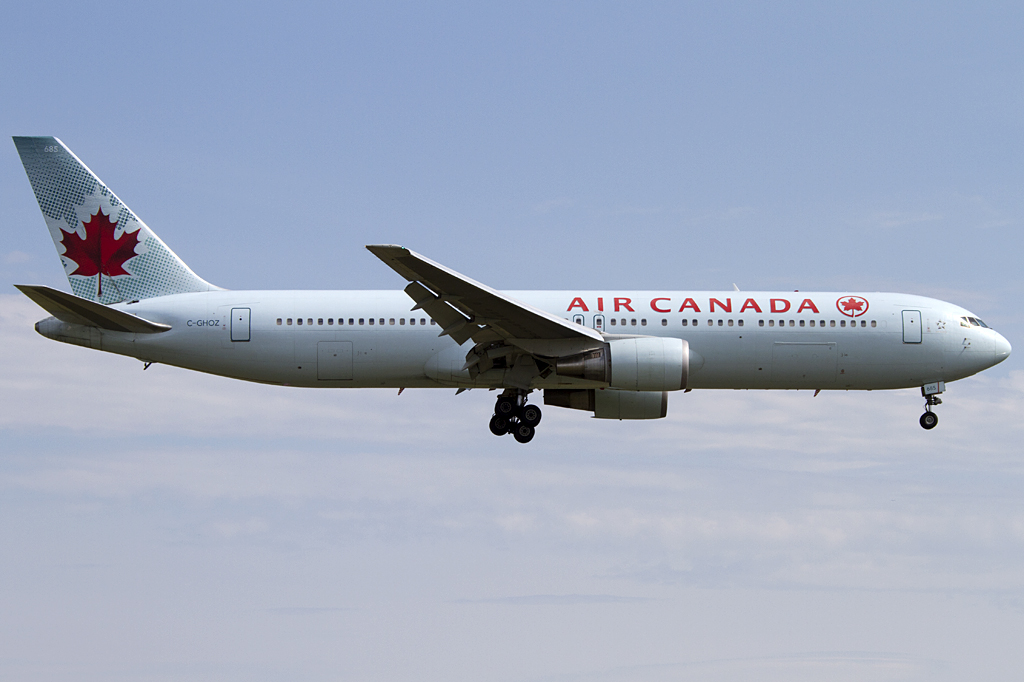 air canada c ghoz boeing b767 375er yul montreal canada flugzeug. Black Bedroom Furniture Sets. Home Design Ideas