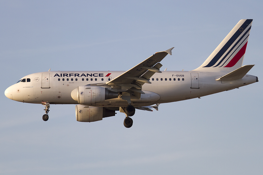 Air France, F-GUGB, Airbus, A318-111, 09.02.2011, FRA, Frankfurt, Germany
