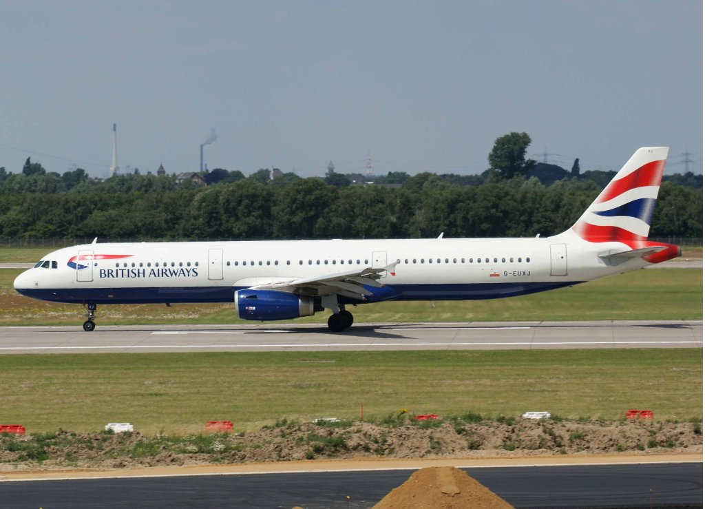 British Airways, G-EUXJ, Airbus A 321-200, 2008.07.15, DUS, Düsseldorf, Germany