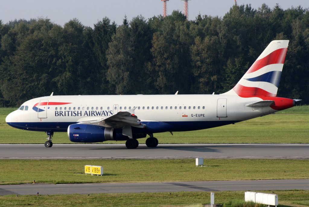 British Airways,G-EUPE,Airbus A319-131,25.09.2011,HAM-EDDH,Hamburg,Germany