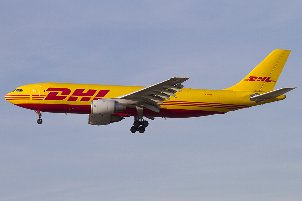 dhl air contractors ei ozf airbus a300b4 203f fra frankfurt germany. Black Bedroom Furniture Sets. Home Design Ideas