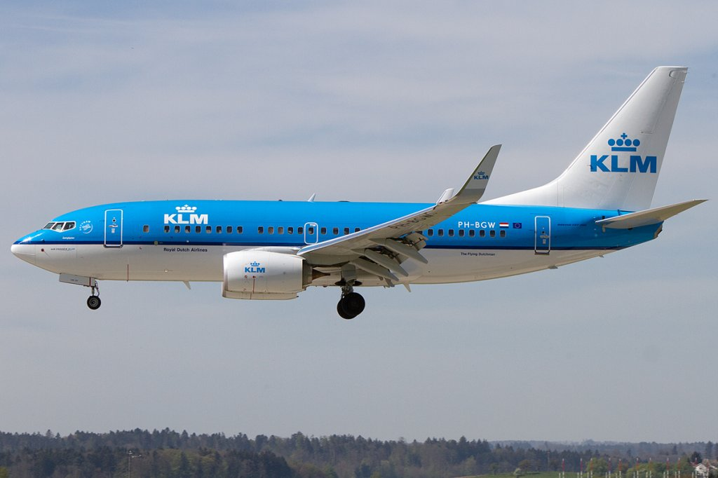 KLM, PH-BGW, Boeing, B737-7K2, 28.04.2012, ZRH, Zürich, Switzerland
