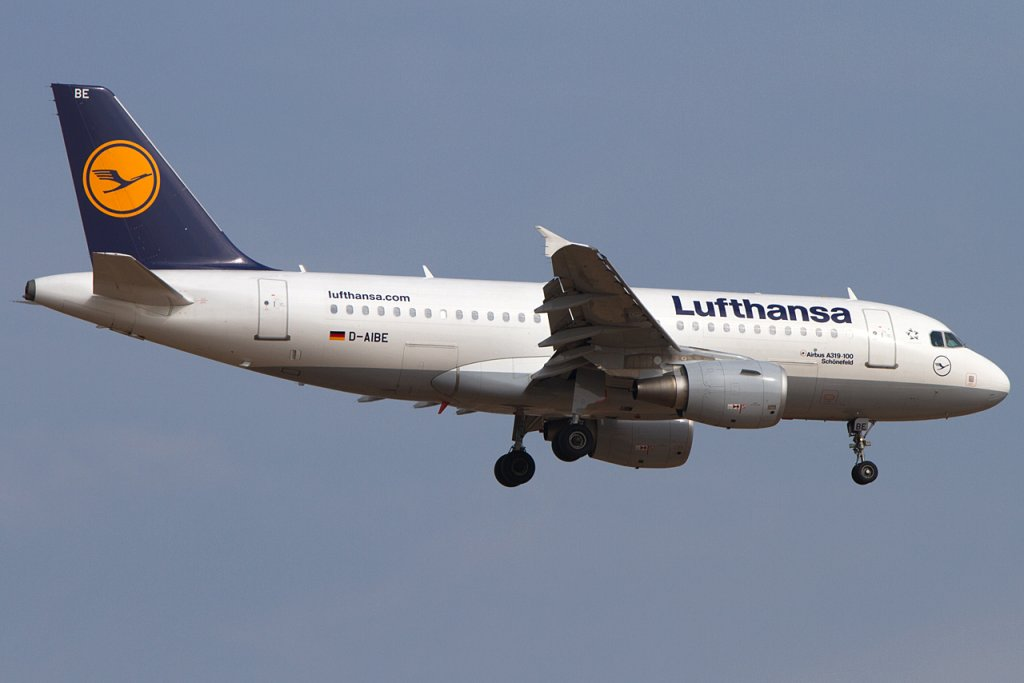 Lufthansa, D-AIBE, Airbus, A319-112, 14.04.2012, FRA, Frankfurt, Germany