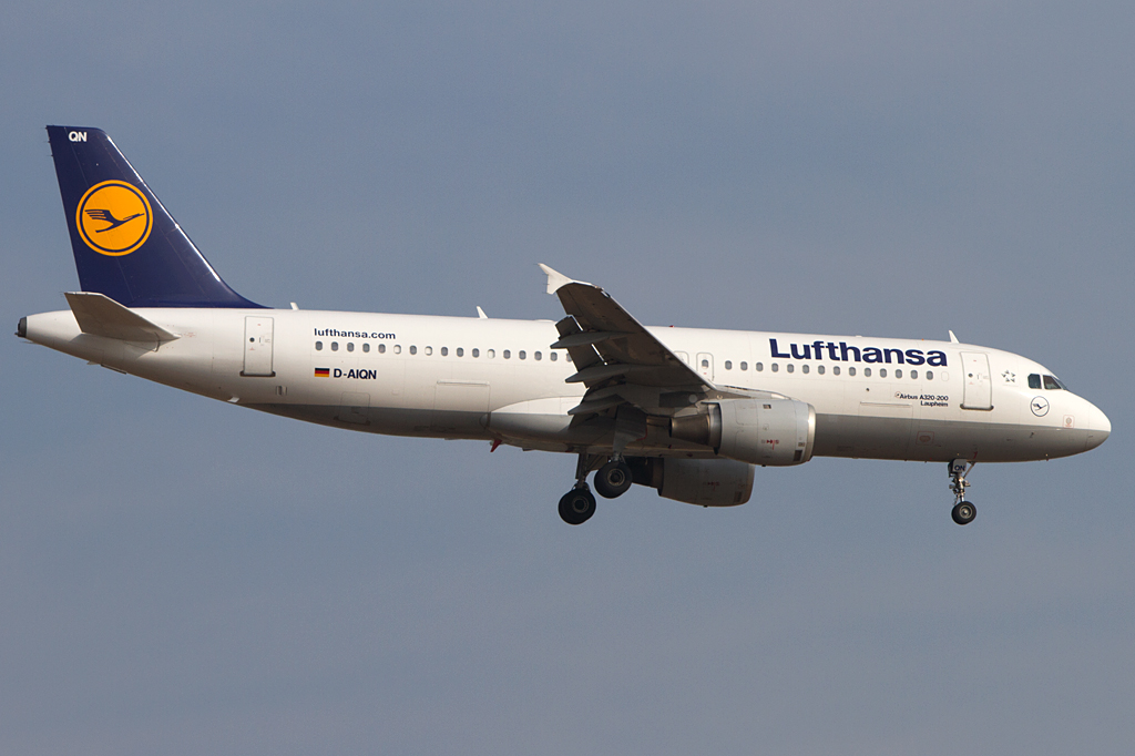 Lufthansa, D-AIQN, Airbus, A320-211, 14.04.2012, FRA, Frankfurt, Germany