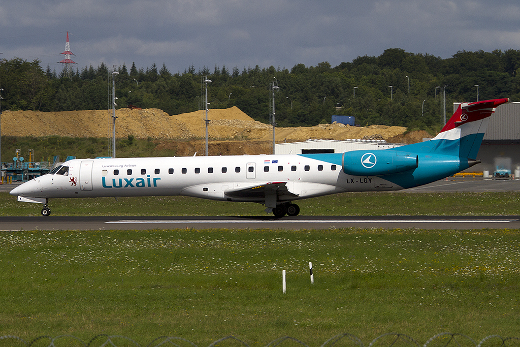 Luxair, LX-LGY, Embraer, ERJ-145, 29.07.2012, LUX, Luxemburg, Luxemburg