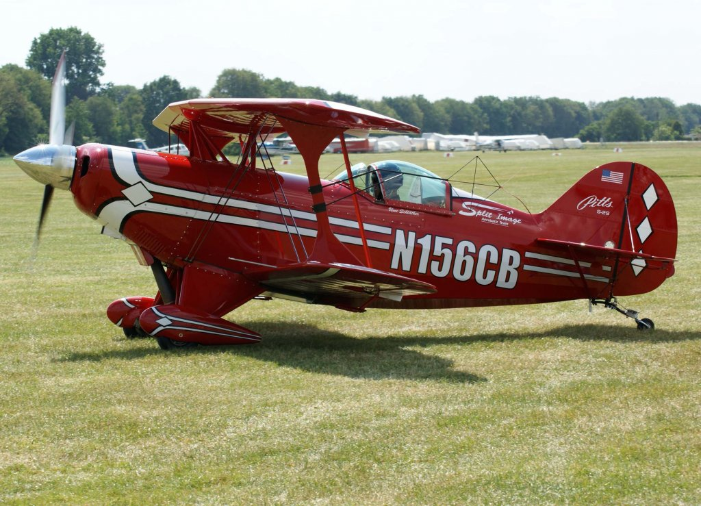 N156CB, Pitts S-2, 2009.05.31, EDLG, Goch (Asperden), Germany