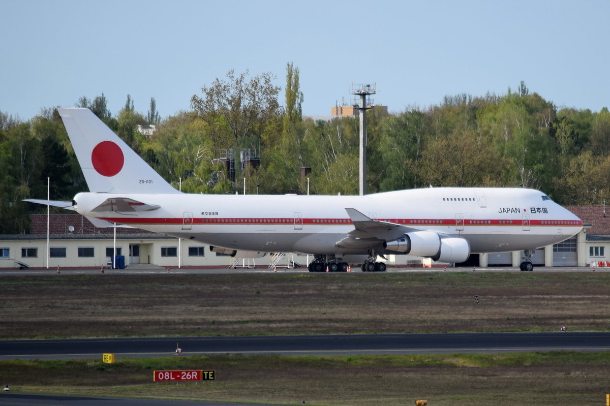 20-1101 Japan Air Self-Defence Force (JASDF) Boeing 747-47C   am 04.05.2016 in Tegel