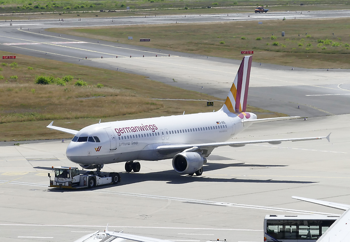 A 320-200 Germanwings, D-AIQL, pushback in CGN - 08.07.2018