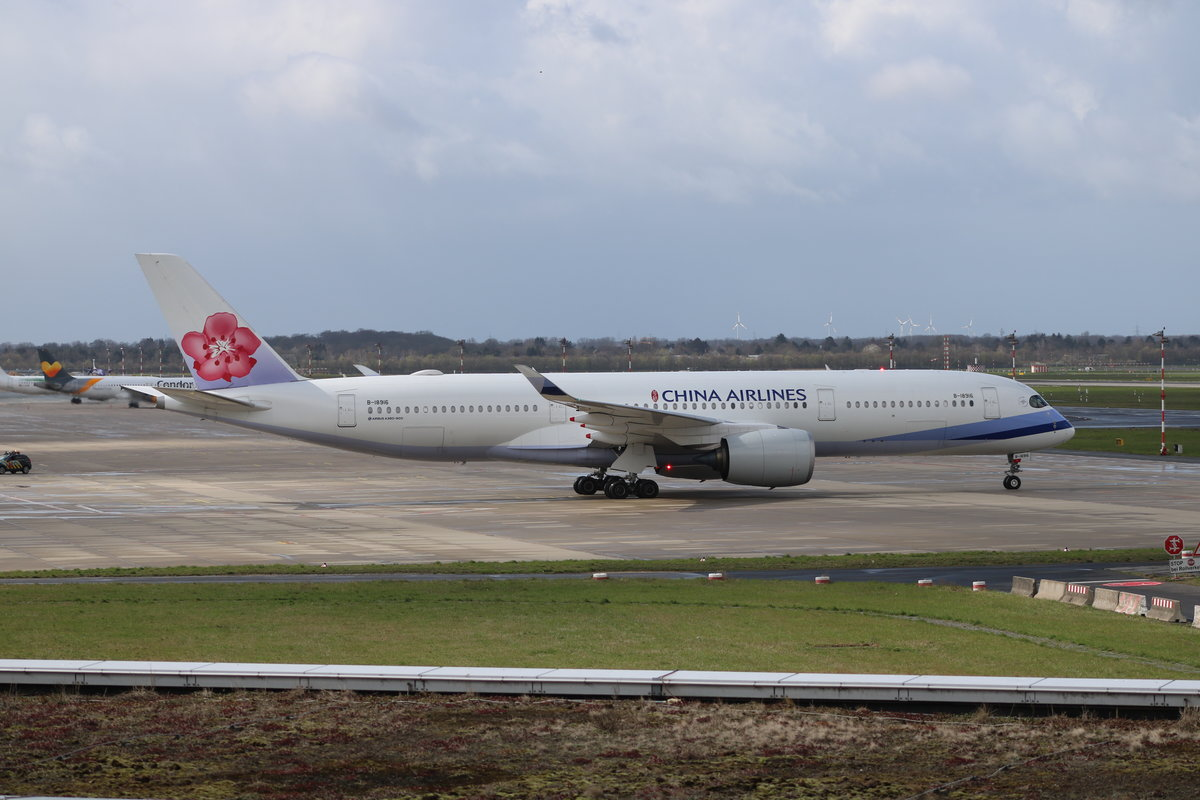 A350-900, B-18916, China Airlines, Düsseldorf, 25.3.19