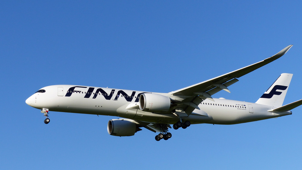 A350-900. Erstlandung in HAM am 11.10.2015