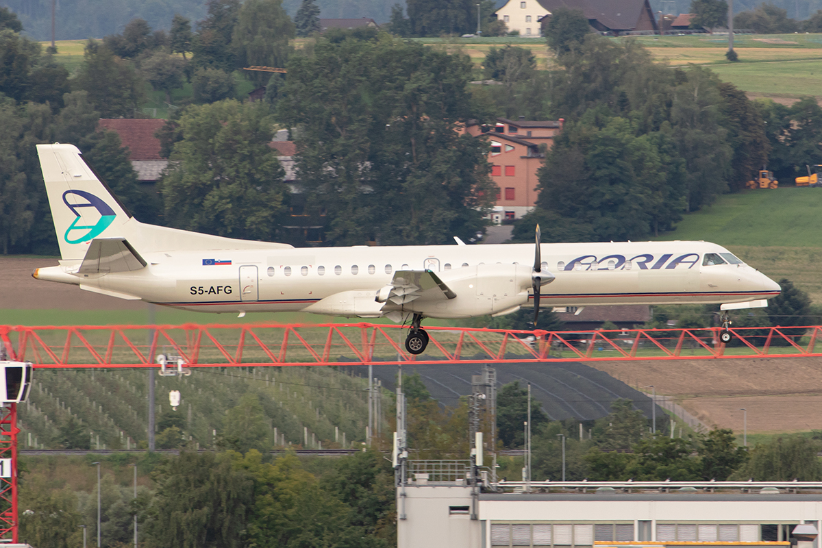 Adria Airways, S5-AFG, Saab, 2000, 17.08.2019, ZRH, Zürich, Switzerland