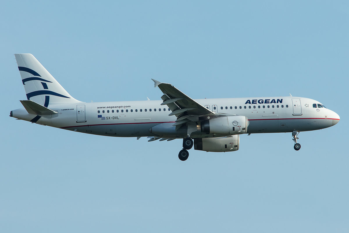 Aegean Airlines, SX-DVL, Airbus, A320-232, 01.05.2019, MUC, München, Germany