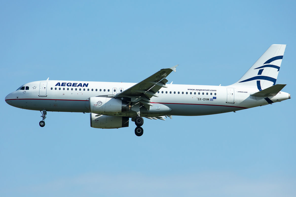 Aegean Airlines, SX-DVM, Airbus, A320-232, 02.05.2019, MUC, München, Germany