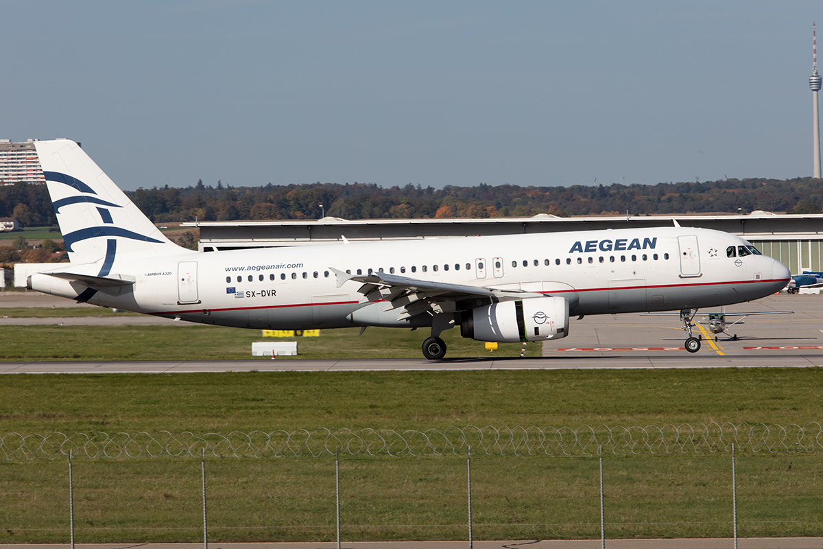Aegean Airlines, SX-DVR, Airbus, A320-232, 15.10.2019, STR, Stuttgart, Germany