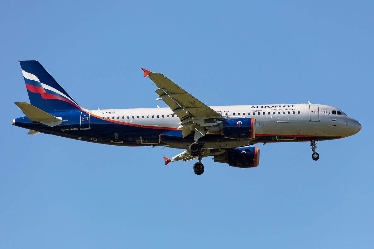 Aeroflot, VP-BID, Airbus, A320-214, 13.05.2019, CDG, Paris, France