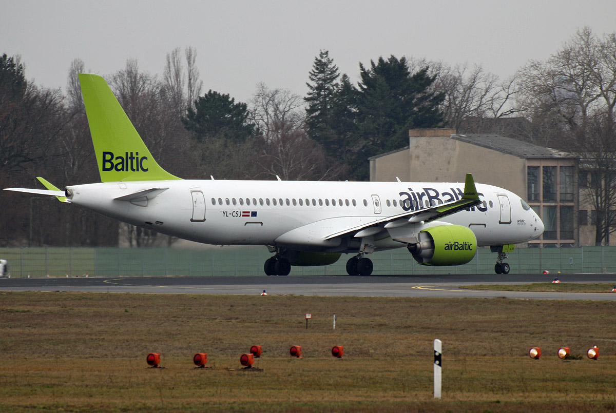 Air Baltic, Airbus A 220-300, YL-CSJ, TXL, 02.03.2019