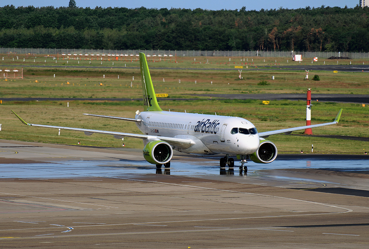 Air Baltic, Airbus A 220-300, YL-CSI, TXL, 08.06.2019