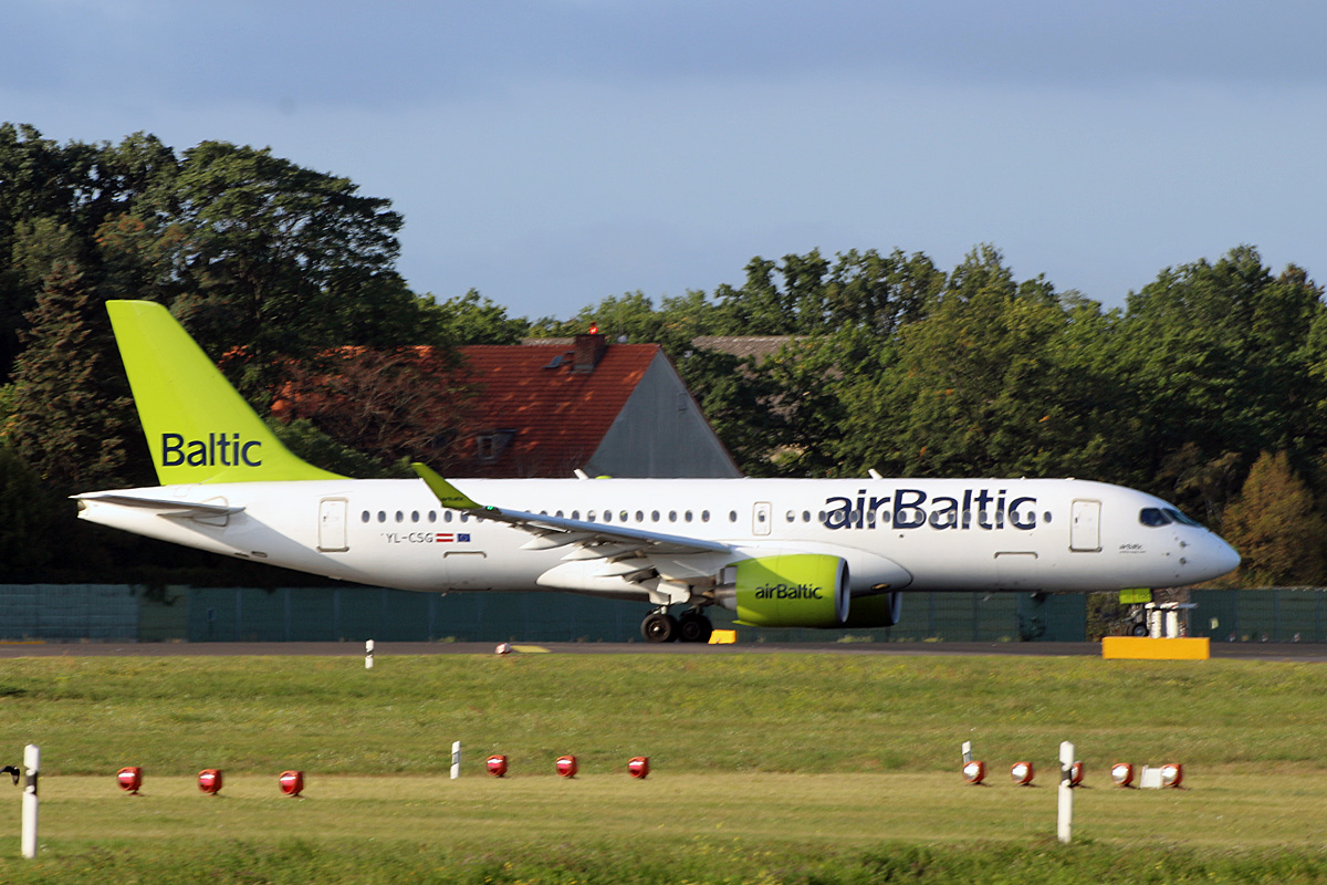 Air Baltic, Airbus A 220-300, YL-CSG, TXL, 19.09.2019