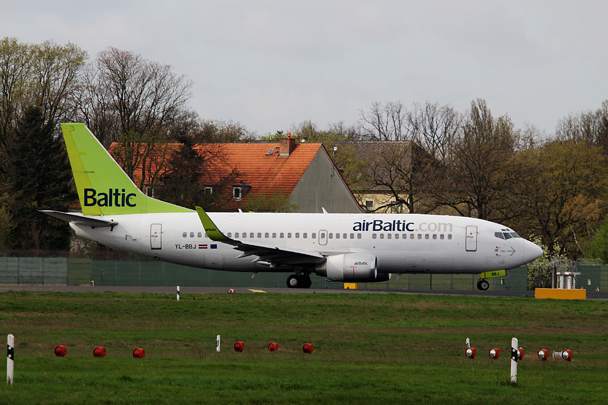 Air Baltic, Boeing B 737-36Q, YL-BBJ, TXL, 14.04.2017