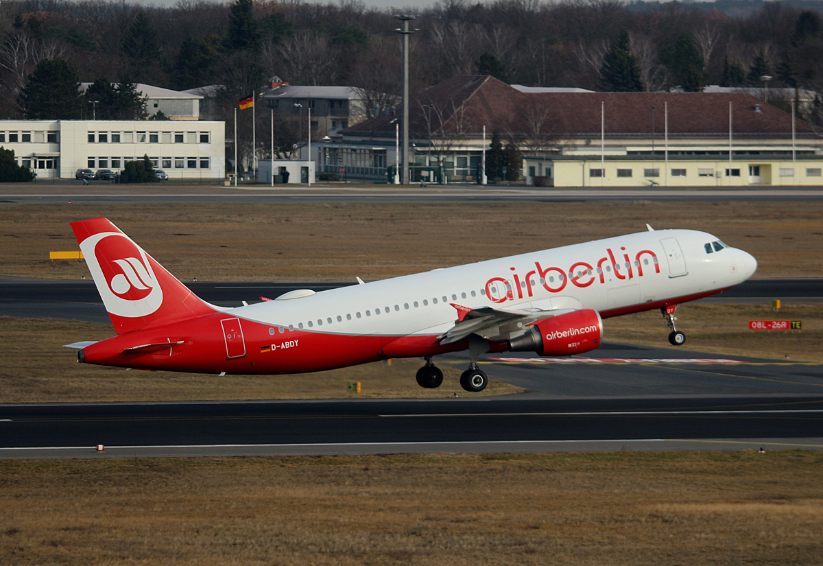 Air Berlin, Airbus A 320-214, D-ABDY, TXL, 04.03.2017