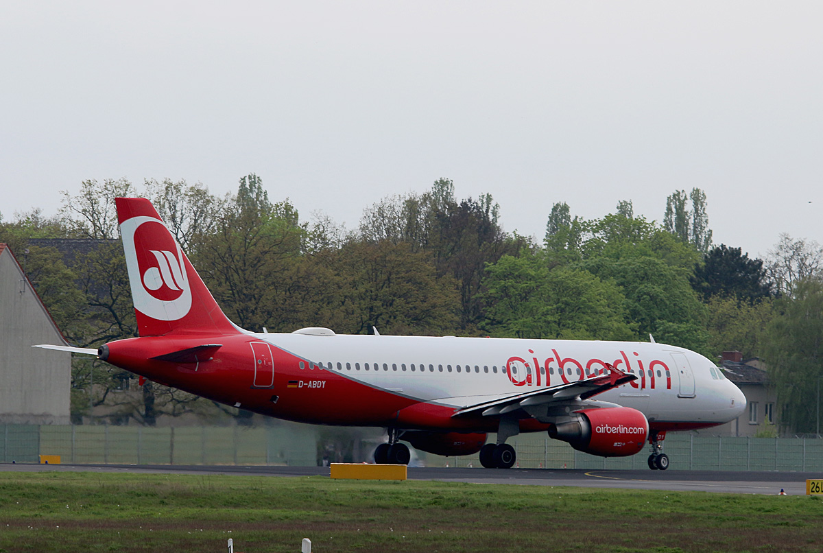 Air Berlin, Airbus A 320-214, D-ABDY, TXL, 07.05.2017