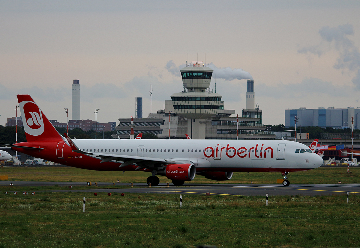 Air Berlin, Airbus A 321-211, D-ABCQ, TXL, 14.07.2016