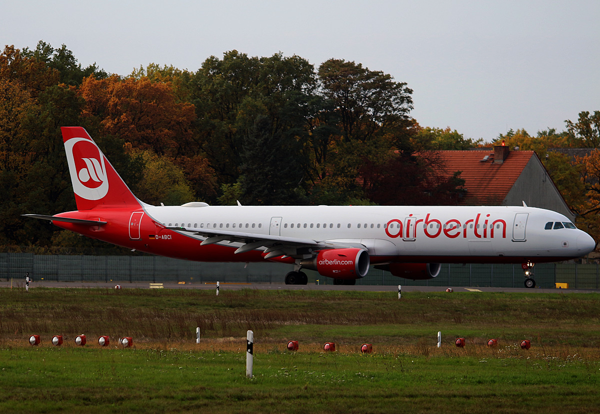Air Berlin, Airbus A 321-211, D-ABCI, TXL, 29.10.2016