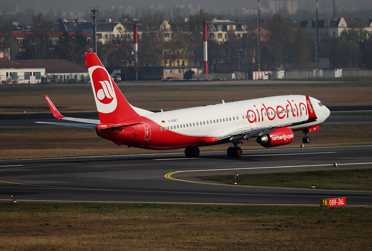 Air Berlin B 737-808 D-ABBY beim Start in Berlin-Tegel am 29.03.2014