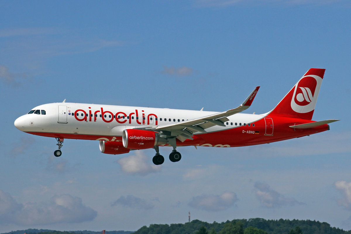 Air Berlin, D-ABNQ, Airbus A320-214, 29.Juli 2017, ZRH Zürich, Switzerland.