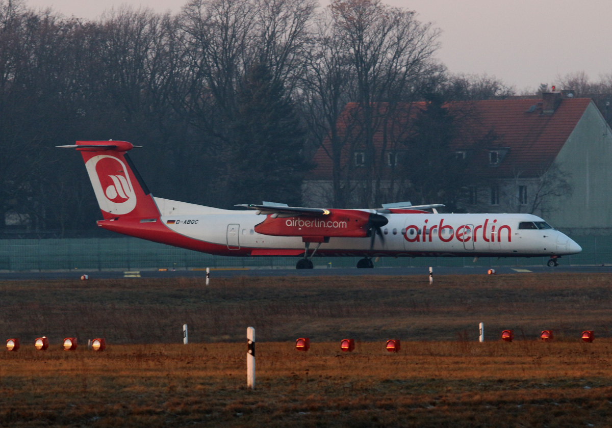 Air Berlin, DHC-8-402Q, D-ABQC, TXL, 29.01.2017