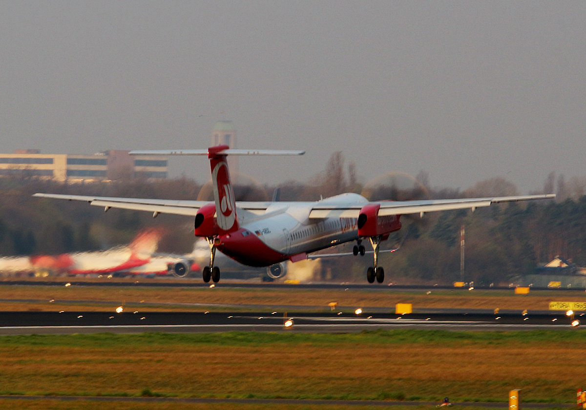 Air Berlin, DHC-8-402Q, D-ABQC, TXL, 02.04.2017