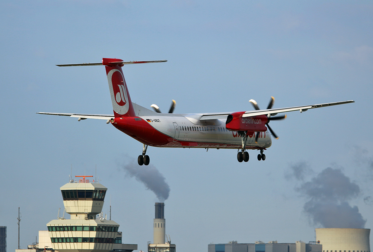Air Berlin, DHC-8-402Q, D-ABQT, TXL, 05.08.2017
