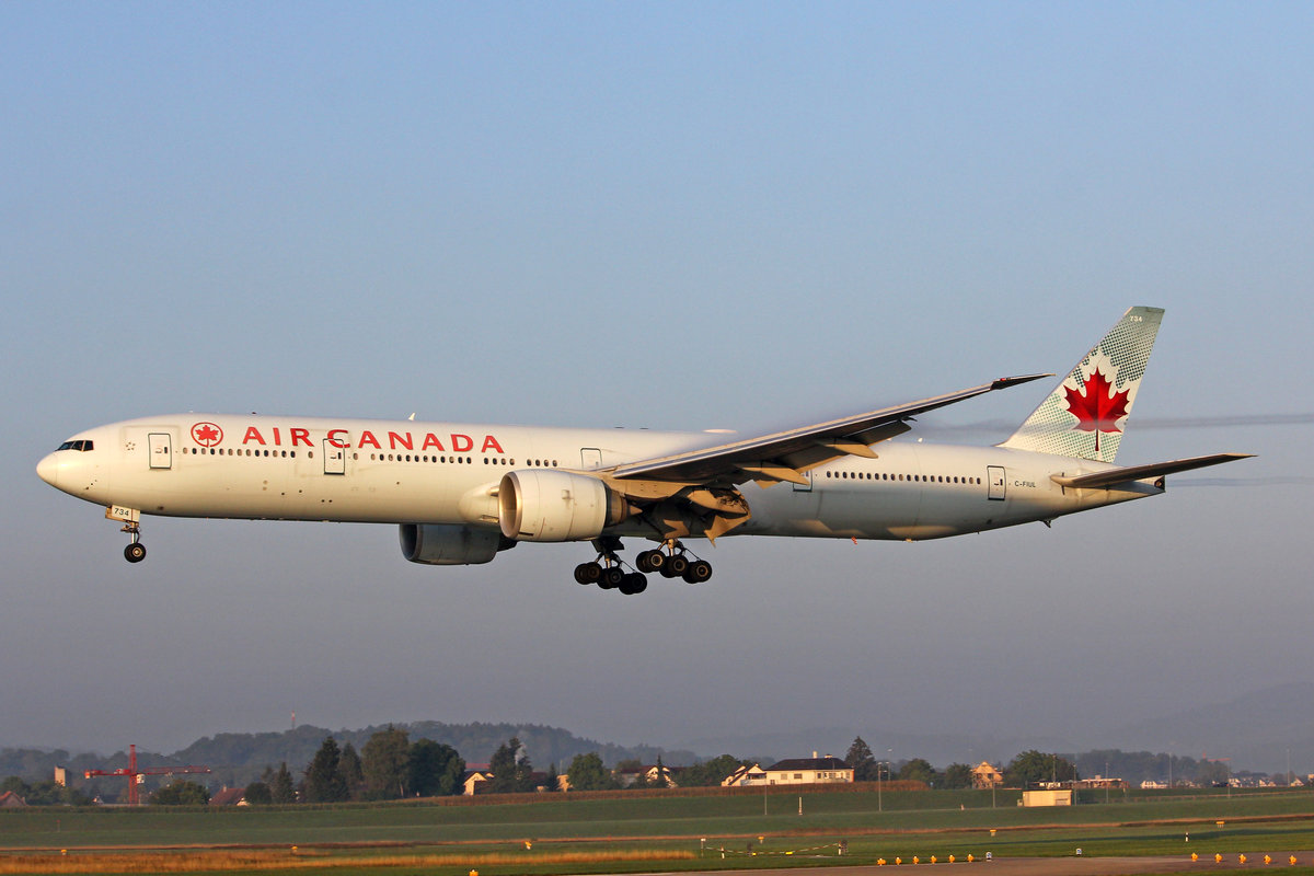 Air Canada, C-FIUL, Boeing 777-333ER, msn: 35255/642, 05.September 2018, ZRH Zürich, Switzerland.