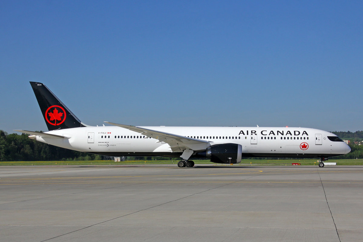 Air Canada, C-FVLU, Boeing 787-9, msn: 38360/659, 29.April 2018, ZRH Zürich, Switzerland.