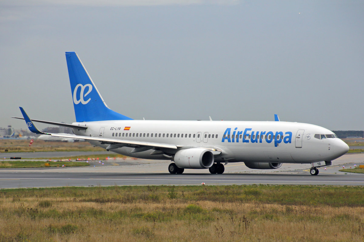 Air Europa, EC-LYR, Boeing B737-85P, msn: 36595/4735, 29.September 2019, FRA Frankfurt, Germany.