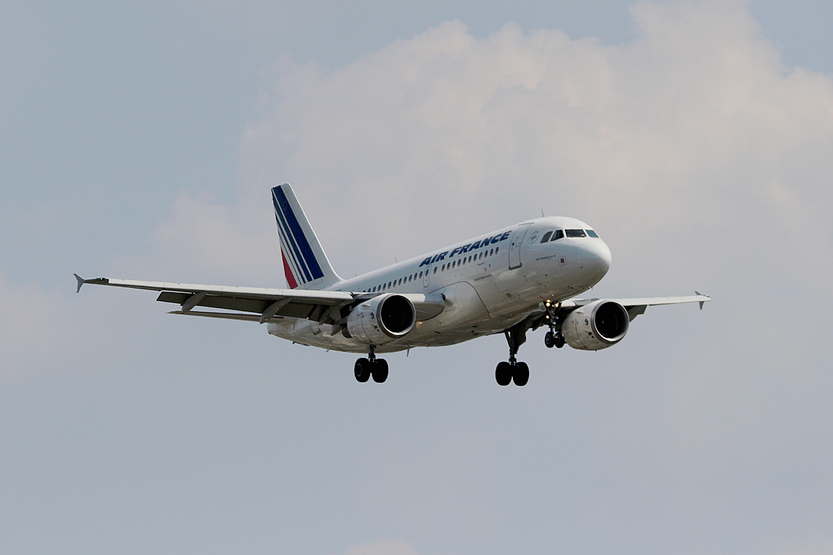 Air France A 319-111 F-GRXD bei der Landung in Berlin-Tegel am 08.08.2014
