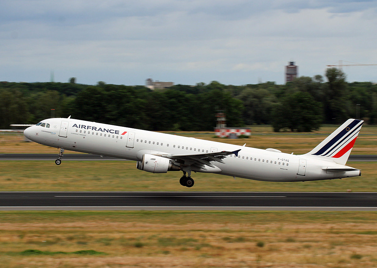Air France, Airbus A 321-212, F-GTAQ, TXL, 05.07.2020
