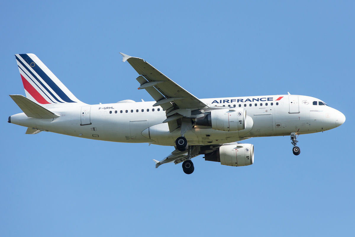 Air France, F-GRHL, Airbus, A319-111, 13.05.2019, CDG, Paris, France