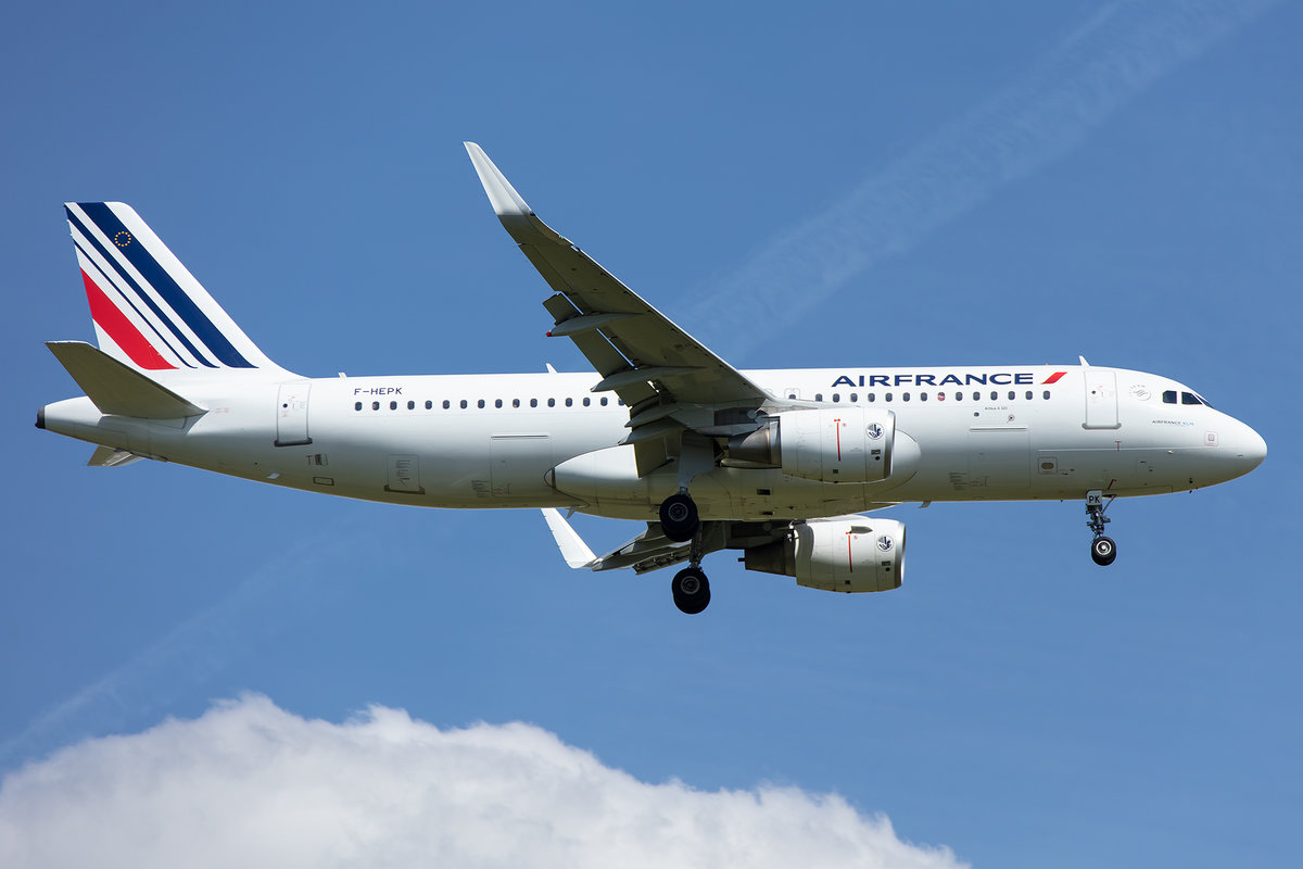 Air France, F-HEPK, Airbus, A320-214, 13.05.2019, CDG, Paris, France