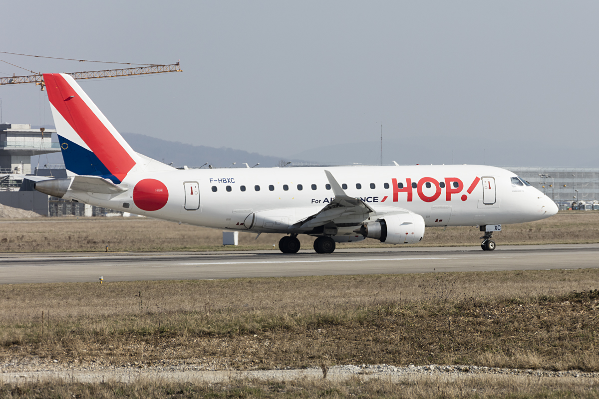 Air France - HOP!, F-HBXC, Embraer, ERJ-170, 15.03.2017, BSL, Basel, Switzerland