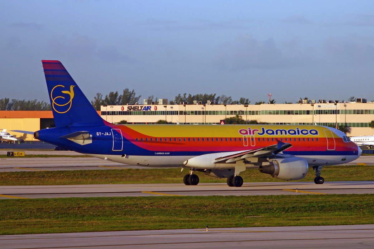 Air Jamaica, 6Y-JYJ, Airbus A320-214, msn: 630, 08.Januar 2007, FLL Fort Lauderdale, USA.