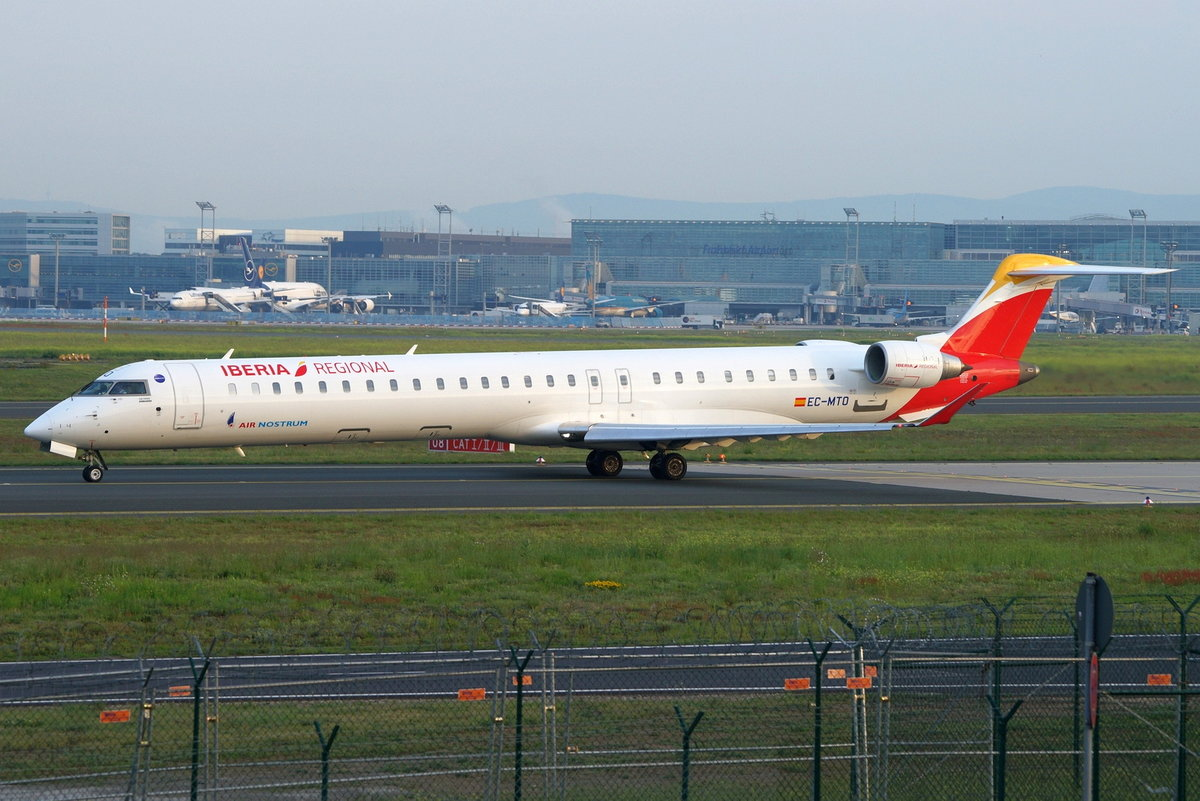 Air Nostrum, Bombardier CRJ-1000 (CL-600-2E25) EC-MTO, cn(MSN): 19059,
