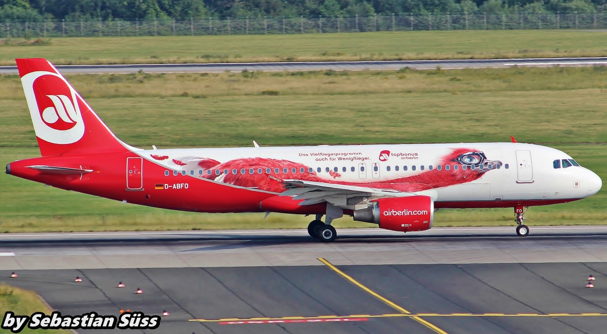 Airberlin A320 D-ABFO @ Dusseldorf Airport. 1.7.15