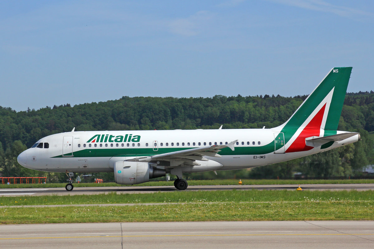 Alitalia, EI-IMS, Airbus A319-112, msn: 4910,  Giuseppe Parini , 29.April 2018, ZRH Zürich, Switzerland.