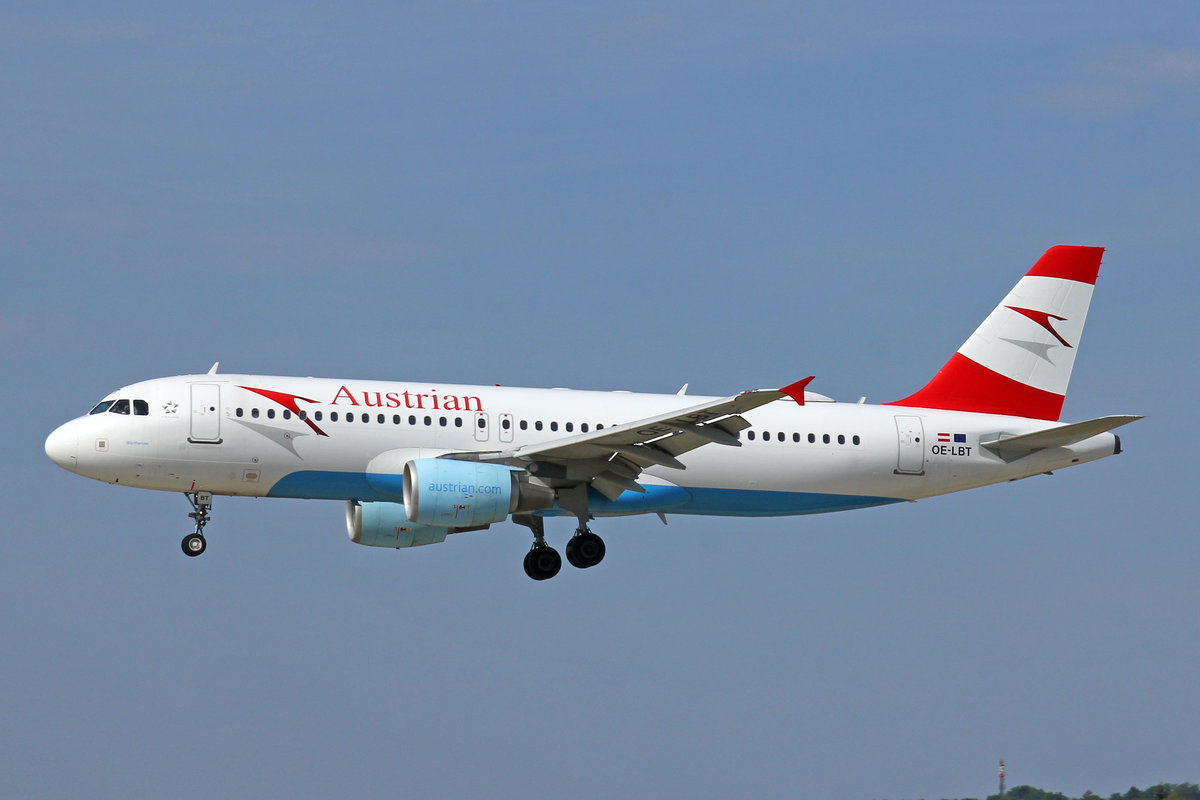 Austrian Airlines, OE-LBT, Airbus A320-214, msn: 1387,  Wörthersee , 01.August 2018, ZRH Zürich, Switzerland.