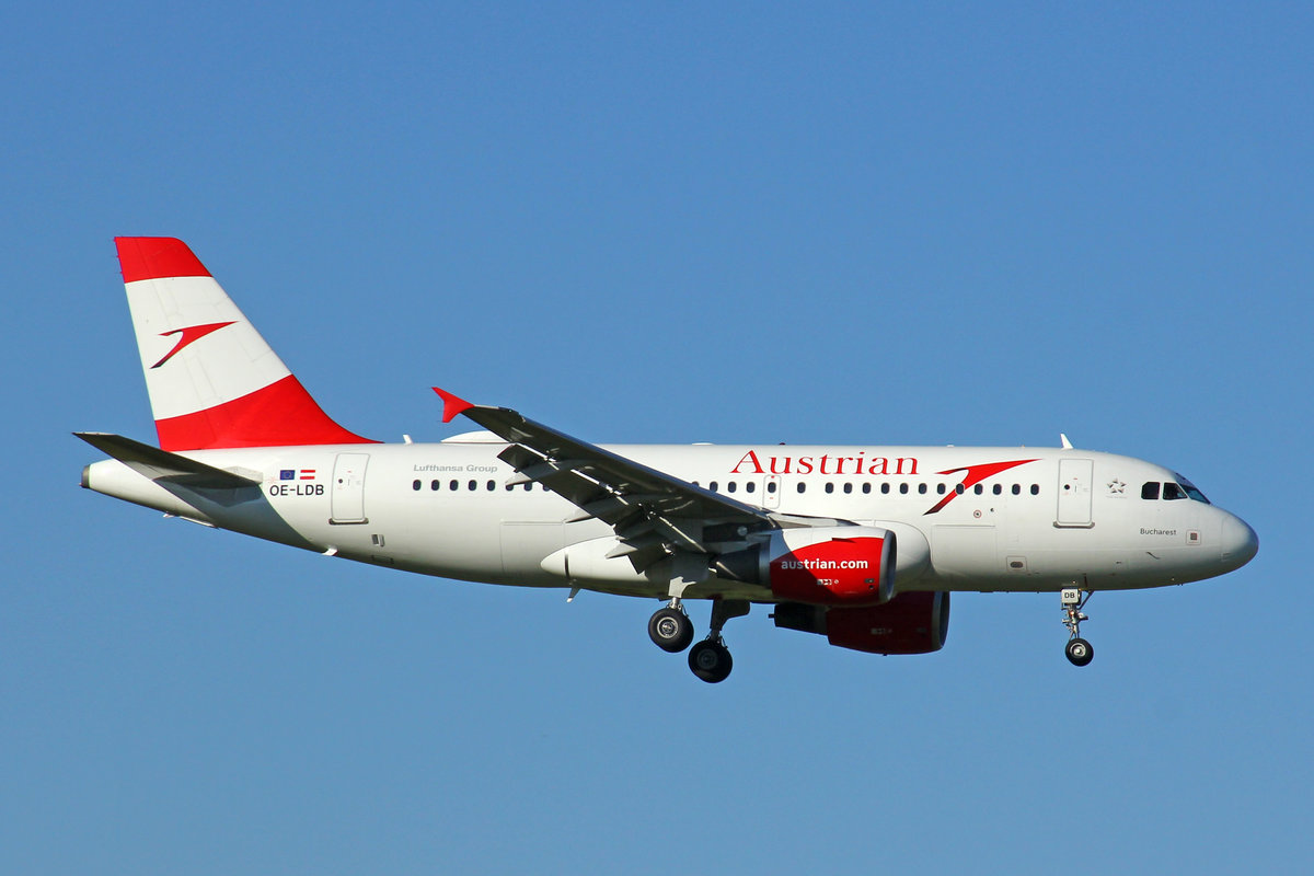 Austrian Airlines, OE-LDB, Airbus A319-112, msn: 2174,  Bucharest , 27.Juli 2020, ZRH Zürich, Switzerland.