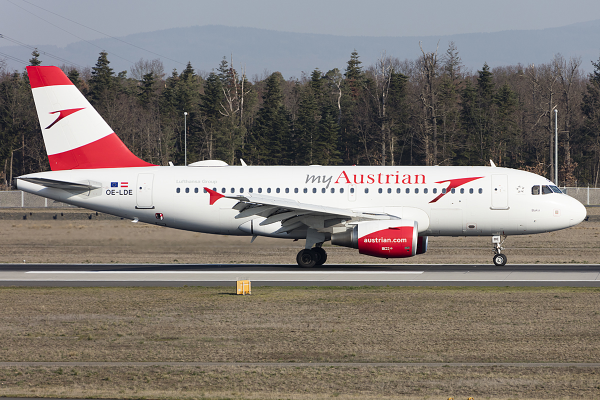 Austrian Airlines, OE-LDE, Airbus, A319-112, 31.03.2019, FRA, Frankfurt, Germany